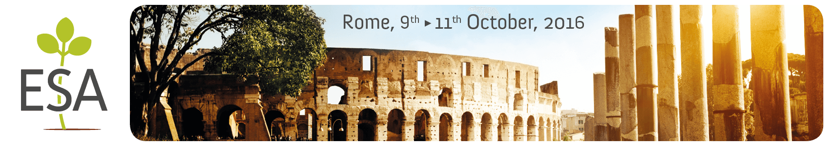 ESA Annual Meeting 2016 - Rome Cavalieri Waldorf Astoria - Rome - Sunday 9  › Tuesday 11 October 2016